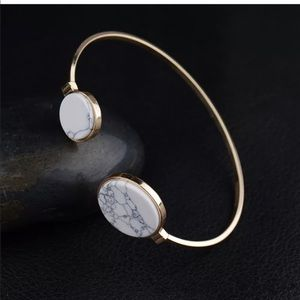 Jewelry - Round Marble Cuff Bracelet